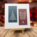 firmowa kartka świąteczna KLASA ŚWIĄT z logiem / min. 10 szt