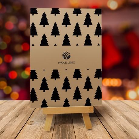 firmowa kartka świąteczna CZARNY LAS z logiem