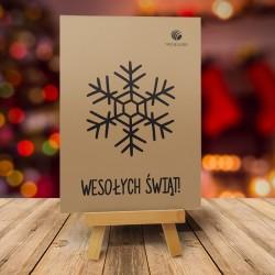 Firmowa kartka świąteczna CZARNY PŁATEK z logiem