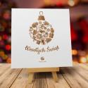 Kartka Bożonarodzeniowa PIERNIKOWA BOMBKA z logiem