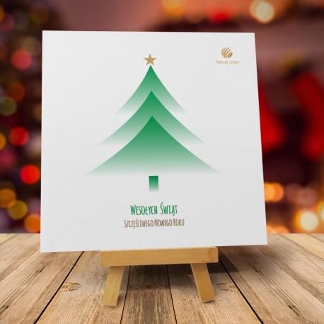 Firmowa kartka Bożonarodzeniowa Wesołego Zielonego z logo