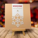 Firmowa Kartka Bożonarodzeniowa ZŁOTY PŁAT z logiem