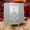 Firmowa Kartka Bożonarodzeniowa SREBRNY PŁAT z logiem