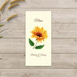 Menu Ślubne Słoneczniki