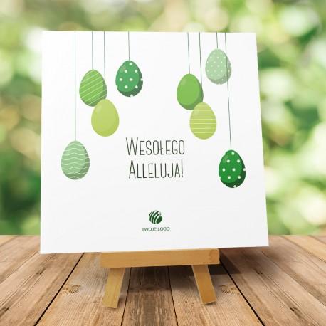 """Kartka Wielkanocna dla firm """"Malowane jajka"""""""
