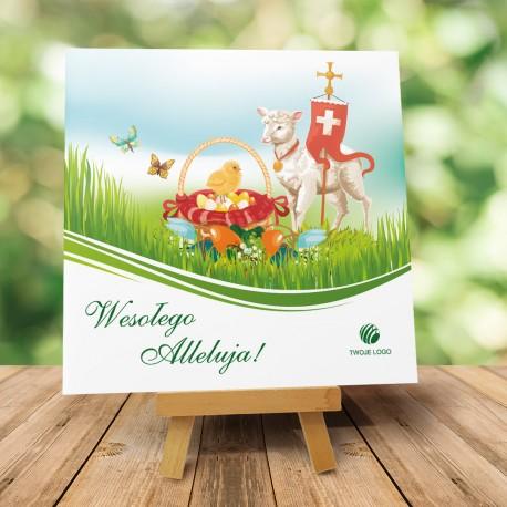 """Religijna Kartka Wielkanocna dla firm """"Baranek"""""""