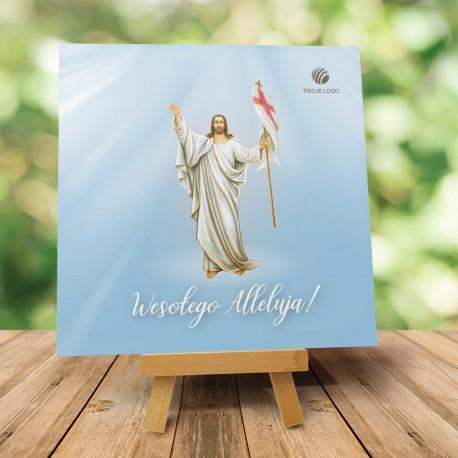 """Religijna Kartka Wielkanocna z logo """"Niebiańskie Alleluja"""""""