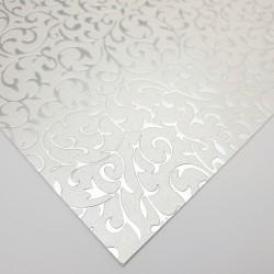 """Ozdobny papier """"Roślinny Ornament Srebrny"""""""