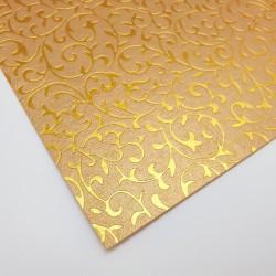 """Elegancki papier dekoracyjny """"Złoty Roślinny Ornament"""""""