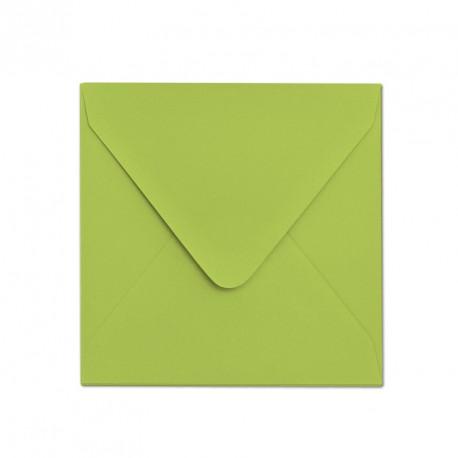 Koperta ozdobna 155x155 jasno zielona