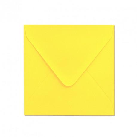 Koperta 155x155 ozdobna intensywnie żółta