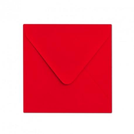 Koperta ozdobna 155x155 czerwona matowa