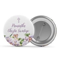 Buttony do ubrań Jaśminki na chrzciny gadżet