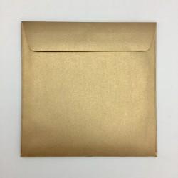 Koperta ozdobna 155x155 stare złoto perłowa