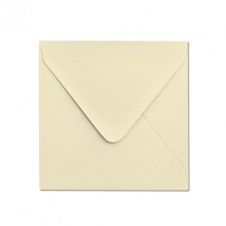 Ozdobna koperta 155x155 ecru matowa z zamknięciem w szpic