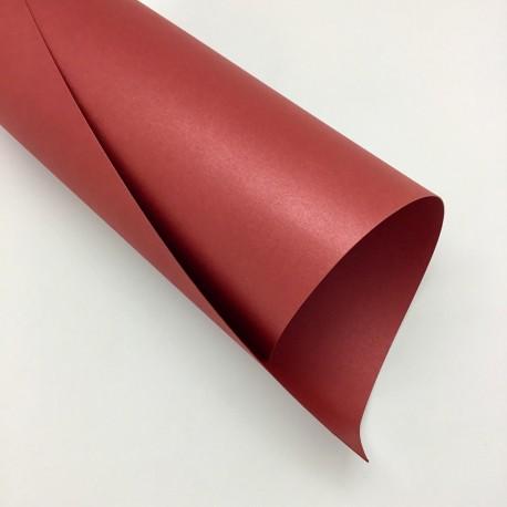 Ozdobny papier perłowy Rubinowy