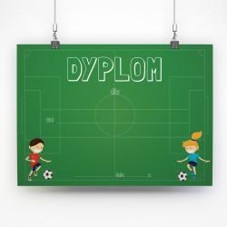Dyplom piłkarski dla chłopca i dziewczynki / A4 poziomy