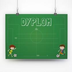 Dyplom piłkarski dla chłopca / A4 poziomy