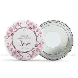 Okrągłe metalowe magnesy na lodówkę Kwiatowe dla gości