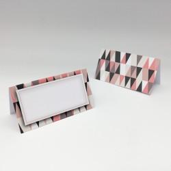 Wizytówki na stół bez personalizacji Trójkąty i kwadraty