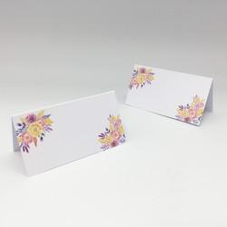 Karteczki z imionami gości na stół z serii INERIA niepersonalizowane
