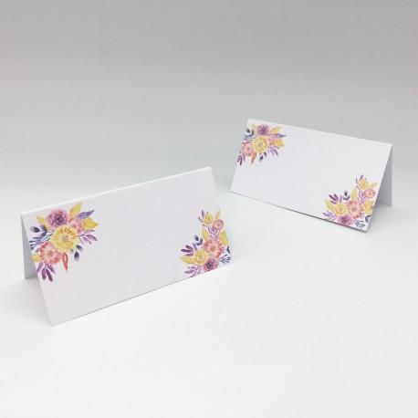 Karteczki z imionami gości na stół z serii INERIA