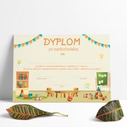 Dyplom przedszkolaka dla dzieci / A4 poziomy