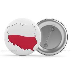 """Przypinki do ubrań patriotyczne """"Mapa Polski Kontur"""""""