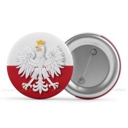 """Patriotyczne przypinki """"Flaga Polski z Orłem w Koronie"""""""