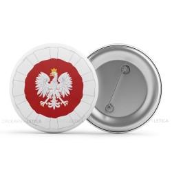"""Wpinki Patriotyczne """"Kokarda Narodowa"""" z orzełkiem"""