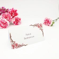 Winietki na stół Kwiatowe