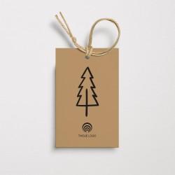 Bileciki świąteczne dla firm CZARNA CHOINKA z logo