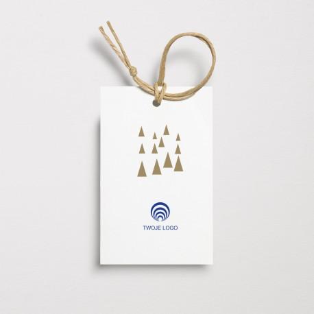 Bileciki na prezenty bożonarodzeniowe WESOŁE CHOINKI z logo
