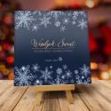 Kartka świąteczna firmowa z logo TANIEC ŚNIEŻYNEK NOCĄ
