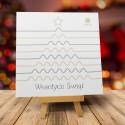 Kartki na Boże Narodzenie dla Firm CHOINKA W STYLU SKANDYNAWSKIM