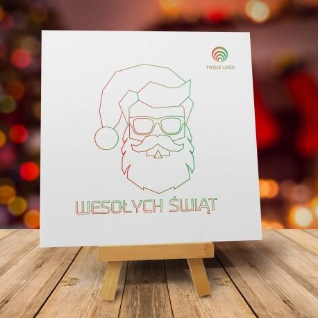 Oryginalne kartki świąteczne dla firm ŚMIESZNY MIKOŁAJ