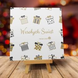 Kartki z życzeniami na Boże Narodzenie SKANDYNAWSKIE ŚWIĘTA z logo