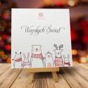 Firmowe kartki świąteczne z logo LEŚNI KOLĘDNICY WĘDROWCY