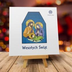 Kartki Świąteczne Bożonarodzeniowe Religijne WITRAŻ