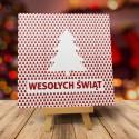 Nowoczesne kartki świąteczne dla firm CHOINKA W LESIE