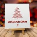 Kartki świąteczne na zamówienie dla firm LAS W CHOINCE