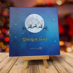 Firmowe kartki świąteczne z logo ZAPRZĘG MIKOŁAJA