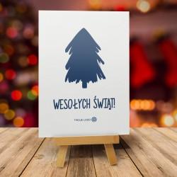 Bożonarodzeniowa kartka świąteczna z logo MINIMALIZM
