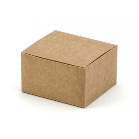 Prostokątne pudełeczka na upominki dla gości weselnych kraft