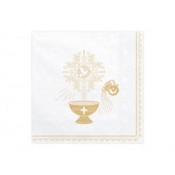 Serwetki na chrzest Złoty Kielich