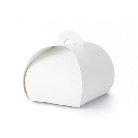 Pudełeczka na upominki dla gości weselnych Białe Zaokrąglone