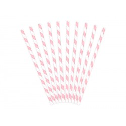 Papierowe słomki do napojów pudrowy róż