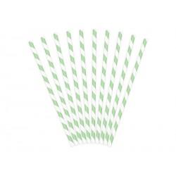 Papierowe słomki do napojów zielone