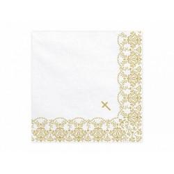 Serwetki Złoty Ornament na chrzest i komunię