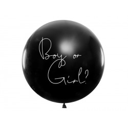 Olbrzymi balon z konfetti niespodzianka Boy or Girl - chłopiec